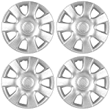 15 inch Hubcaps Best for 2002-2004 Toyota Camry - (Set of 4) Wheel Covers 15in Hub Caps Silver Rim Cover - Car Accessories for 15 inch Wheels - Snap On Hubcap, Auto Tire Replacement Exterior Cap)