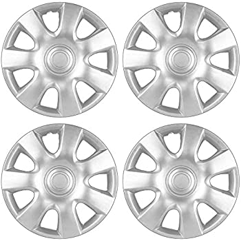 Amazon.com: BDK KT-978-15_AMwng1 Silver 15 Inch Hubcaps ...