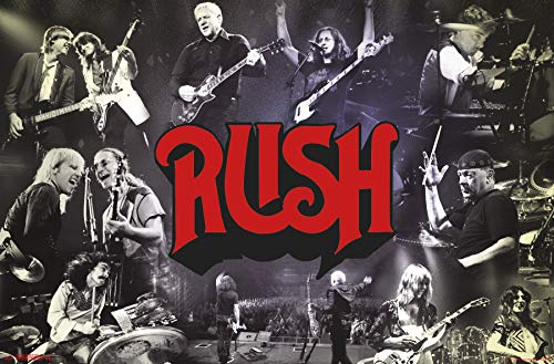 Trends International Rush - Through The Years Wall Poster, Multi