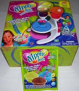 Dippin' Dots Frozen Dot Ice Cream Maker Machine & 2 BONUS Packs of Frozen Dot Mix Refills