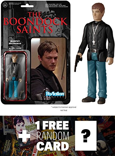 Murphy MacManus: Funko ReAction x The Boondock Saints Action Figure + 1 FREE Classic Movie Trading Card Bundle (51860)