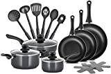 Chef's Star Professional Grade Aluminum 15 Piece Non-stick Pots & Pans Set - Induction Ready Cookware Set