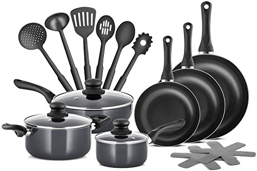 Chefs Star Professional Grade Aluminum 15 Piece Non-stick Pots & Pans Set – Induction Ready Cookware Set