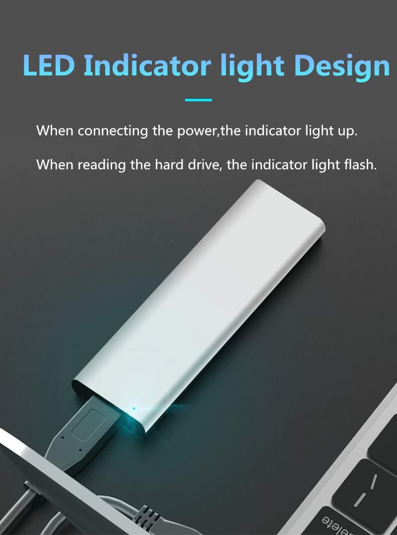 zoeson USB3.1 SSD M.2 B-Key SATA NGFF Enclosure Kit con Supporto in Alluminio Design NGFF SSD 2230 2242 2260 2280