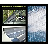 """One-Way Silver Mirror Finish Static Cling Vinyl Window Wrap Film DIY Roll Various Sizes (17.75"""" x 5ft)"""