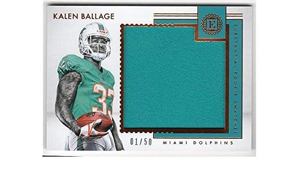 huge discount 98dfc a085b Amazon.com: Kalen Ballage 2018 Panini Encased Substantial ...