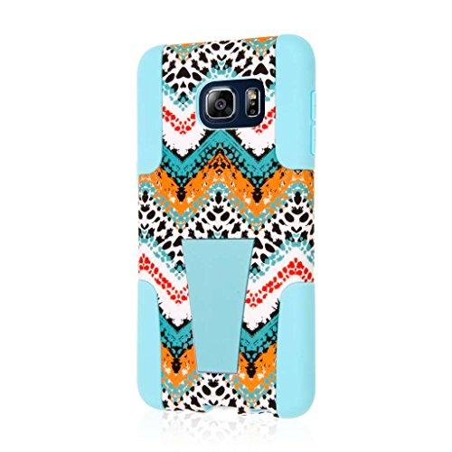 Samsung Galaxy S6 Edge Plus Case - Aqua Safari, MPERO IMPACT X Series Tough Durable Shock Absorbing Silicone Polycarbonate Hybrid Kickstand Case for Galaxy S6 Edge Plus