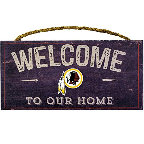 (Fan Creations Welcome Washington Redskins Distressed 6 x 12, 6