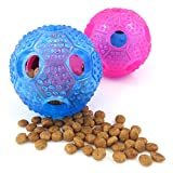 Mikayoo Dog Leakaging Food Ball Intelligence Dog Toys Ball the Dog Chew Toys(set of 2,Blue and Pink)