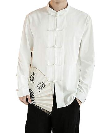 1062abc830e1 Homme Veste De Tang Chinois Vêtement Tai Chi Kung-Fu Chemise en Coton De  Chanvre