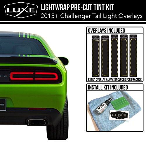 2015-18 Dodge Challenger Tail Light Tint Kit – Dark Smoke