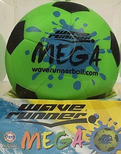 Wave Runner Mega Sport,Soccer Ball Green (#1 Water Skipping Ball) by Wave Runner
