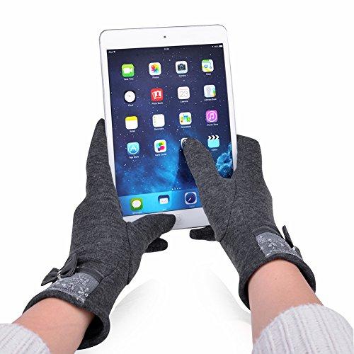 Scuro Guanti Touchscreen Da Grigio Donna Invernale Vbiger nxg0ZwqSw
