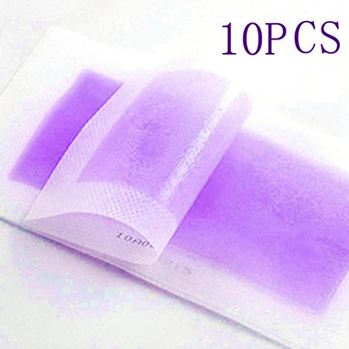 Face Nonwoven Depilatory Strips Hair Wax Papers(Pack of 10) (Purple)