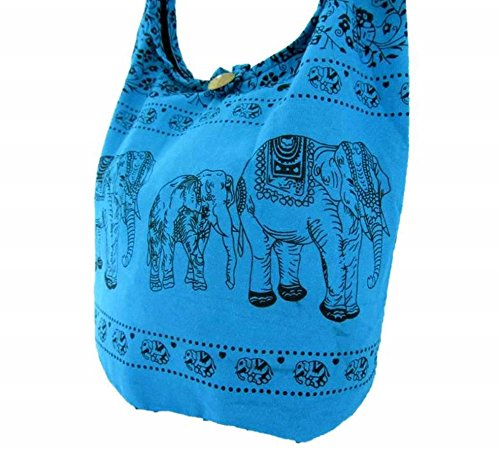 Handbag Crossbody Shoulder Sling Women Medium Boho Thai Gypsy for Sky Elephant Bag Hippie Hobo qzwnHU