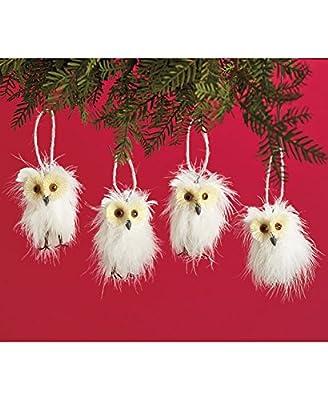 Sets of 4 Woodland Animal Ornaments