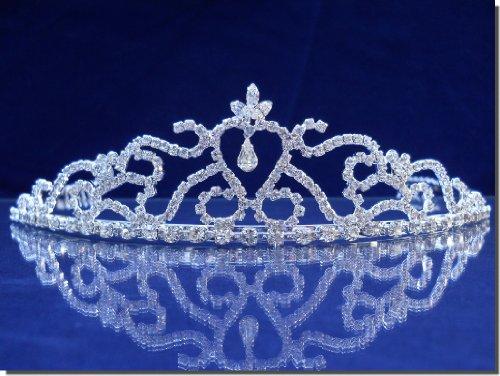 SparklyCrystal Bridal Wedding Prom Tiara Rhinestone Crystal Crown 25328