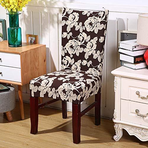 SHANYT Chair Cover Retro Dark Print Dining Chair Cover Detachable Elastic Folding Banquet Restaurant Chair Kitchen Chair -7, Universal Size ()