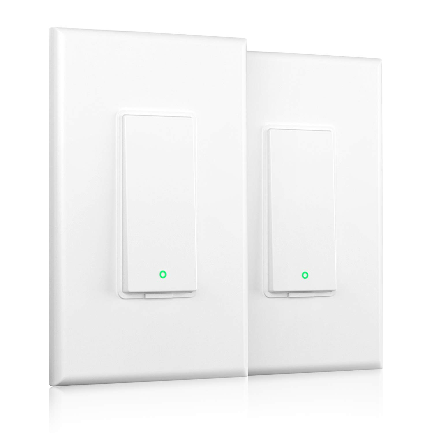 meross Smart Light Switch Single Pole Compatible with Alexa, Google Assistant & SmartThings, 2.4Ghz WiFi Light Switch, Neutral Wire Required, Voice Remote Control, Schedules, No Hub Needed, 2 Pack