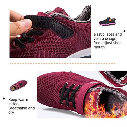 Amazon.com | Women Walking Shoes Winter Warm Anti-Slip Plush Ankle Booties Snow Sneakers Running Shoes | Snow Boots