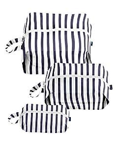 BAGGU 3D Zip Bag 3 Pack - Sailor Stripe Travel and Organization Set