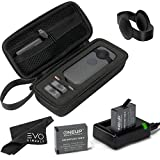 Storage Case and Battery Kit Bundle for Insta360 ONE X 360 Camera (4 Items)