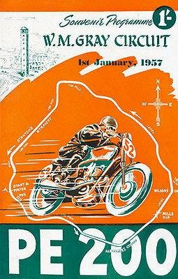1957 PE 200 Motorcycle Race - WM Gray Circuit - South Africa