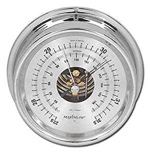 Aneroid Barometer In Chrome - Proteus (0-3000Ft.)