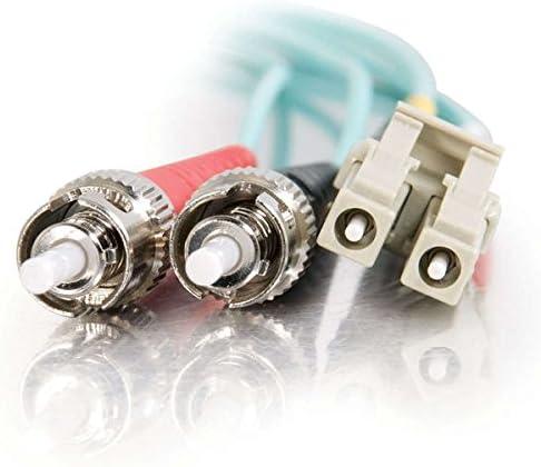 1 Meter, Aqua C2G//Cables to Go 36121 LC-ST 10GB 50//125 OM3 Duplex Multimode PVC Fiber Optic Cable