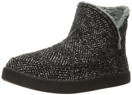 Sanuk Women's W CUSH N' Blaze Chukka Boot, Black Chevron Knit, 9 M US