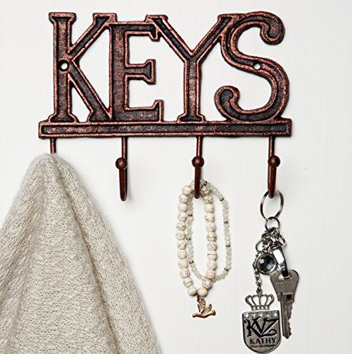 Key Holder - Keys - Wall Mounted Key Hook - Rustic Western C