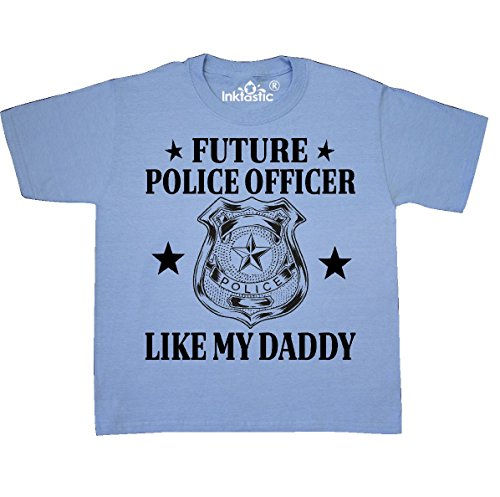 inktastic - Police Officer Like Youth T-Shirt Youth Small (6-8) Light Blue 31133 -