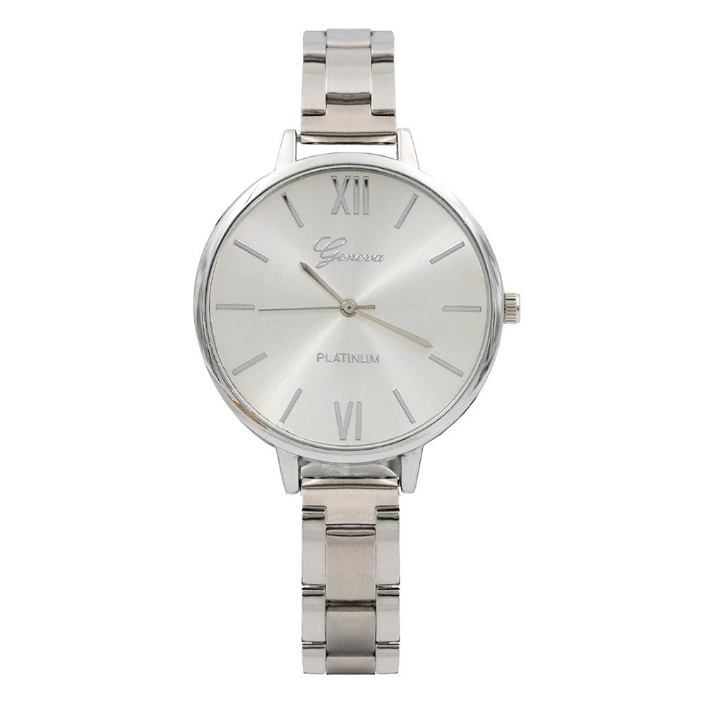 Women's Watch, Thing-ning Fashionable and Simple Ladies Nail Steel Band Watch,Perfect for Valentine's Day (Silver)
