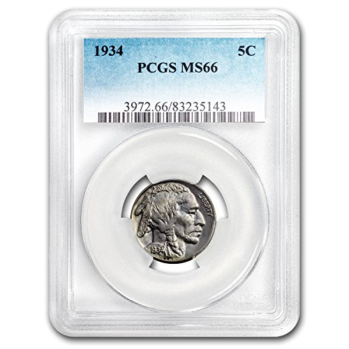 1934 Buffalo Nickel MS-66 PCGS Nickel MS-66 PCGS