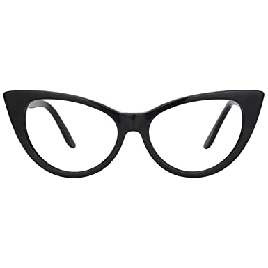2695a47e12 Image Unavailable. Image not available for. Color  Zeelool Acetate Vintage  Cat Eye Glasses for Women ...