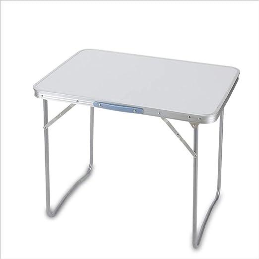 WYJW Mesa Plegable para niños 80 cm Mesa portátil de Aluminio Azul ...