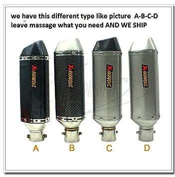 Embellecedor universal para tubo de escape de motocicleta 35 mm - 51 mm, de la marca free akrapovic: Amazon.es: Coche y moto