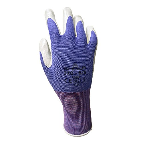 6 Pack Showa Atlas NT370 Atlas Nitrile Garden Gloves - Medium (Assorted Colors) by Showa (Image #1)