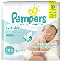 Pampers Sensitive Baby Wipes - Unscented - 192 ct