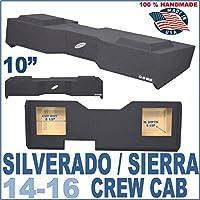 14-17 Chevy Silverado GMC Sierra Crew Cab Solobaric Sub Box MDF Subwoofer Enclosure
