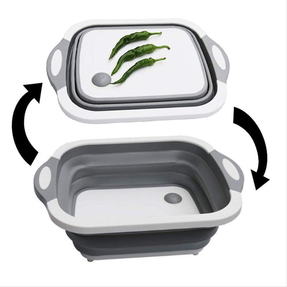 WSLDDD Tragbares Waschbecken Waschbecken Zusammenklappbarer Eimer Multifunktionales Klappschneidebrett