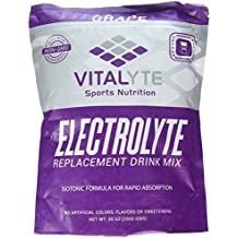 Vitalyte Electrolyte Powder Sports Drink Mix, 80 Servings Per Container, Natural Electrolyte Replacement Supplement for Rapid Hydration & Energy - Grape