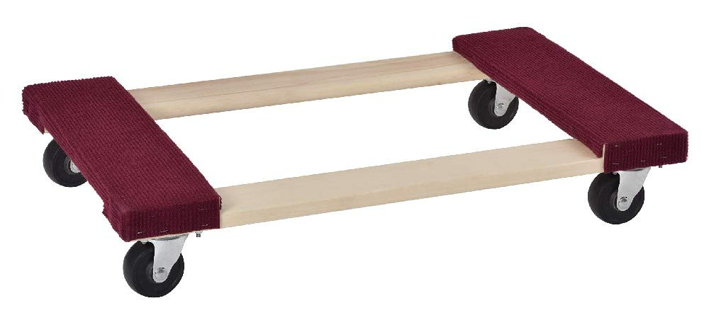 Muscle Carts SWMD-RED Hardwood Movers Dolly