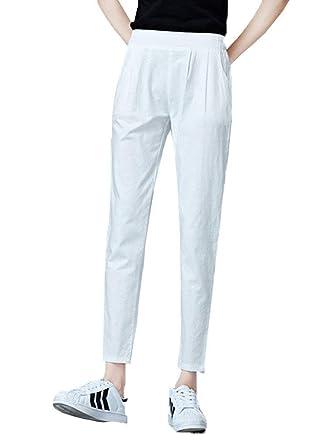 BOLAWOO Loose Fit Pantalones Casuales De Mujeres Fiesta Las ...