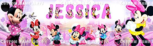 Personalized Minnie Mouse Poster Custom Name Painting Banner ()