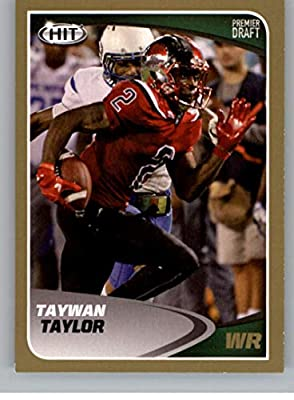 2017 SAGE Hit Premier Draft Gold Football #81 Taywan Taylor Western Kentucky Hilltoppers