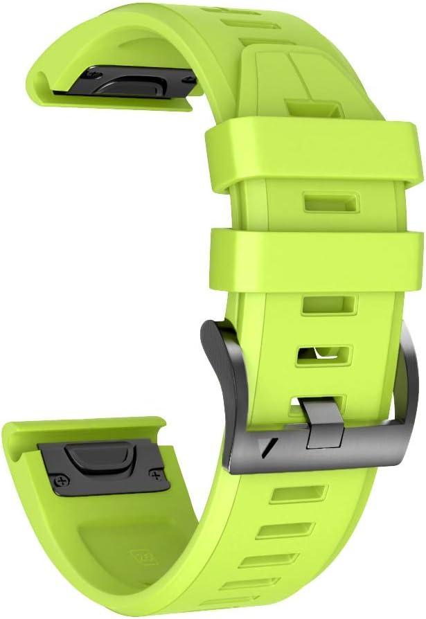 NotoCity Garmin Fenix 5 Correa, 22mm Easy-Fit Silicona Reemplazo Correa para Garmin Fenix 5/Fenix 5 Plus/Fenix 6/Fenix 6 Pro/Forerunner 935/945,no Adapta a Fenix 5X, 5s