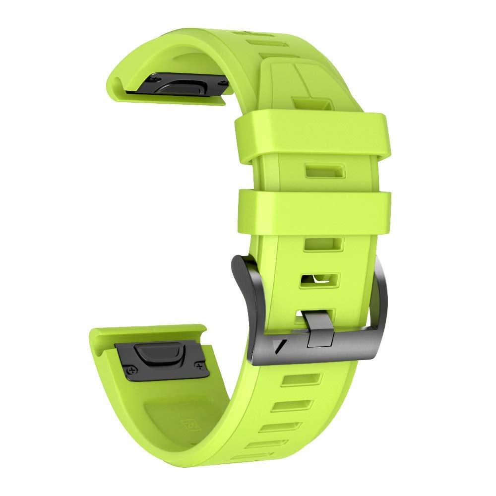 Fenix 5X Plus//Pulsera Ajustable de Repuesto NotoCity Correa de Silicona 26 mm Compatible con Garmin Fenix 3 Fenix 3 HR Fenix 5X