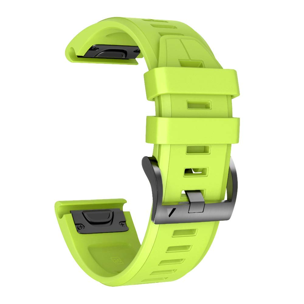 ANCOOL Compatible Fenix 5X Plus Band 26mm Easy Fit Silicone Smartwatch Bands Replacement for Fenix 6X/Fenix 6X Pro/Fenix 5X/Fenix 5X Plus/Fenix 3/Fenix 3 HR (Green) by ANCOOL