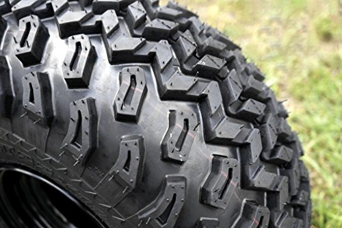 GOLF CART 10''x 7'' MACHINED/BLACK SPIDER ALUMINUM WHEELS & 22'' AT TIRES-SET OF 4 by Steeleng (Image #1)